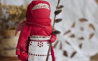 Пасхальная кукла оберег: мастер-класс