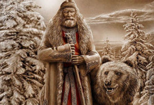 Бог Велес с медведем