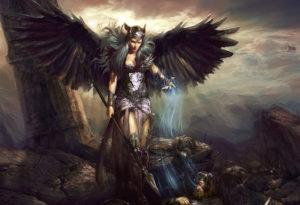 Валькирия забирает павших воинов