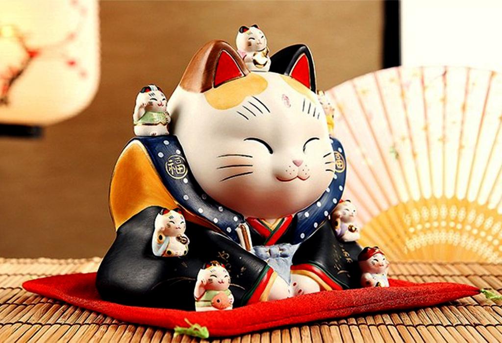 один самых картинки манеки неко кота знать, что