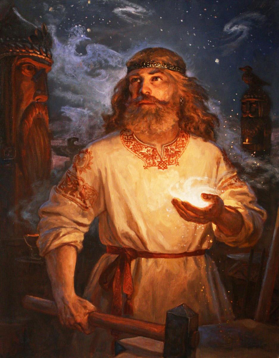 Бог Сварог, художник Андрей Шишкин