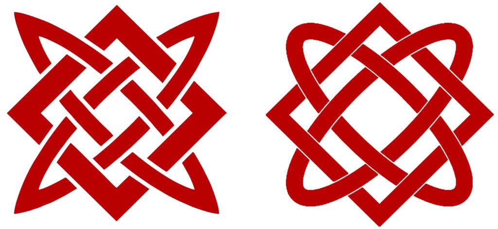 Символы Квадрат Сварога и Звезда Лады