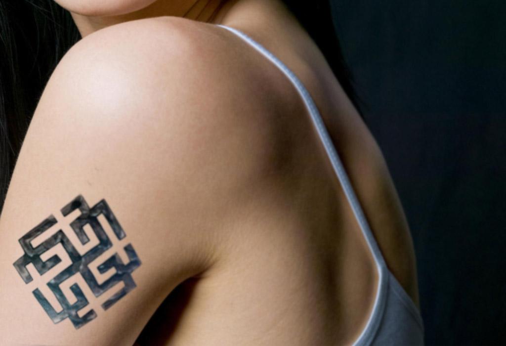 Cимвол Сварожич в виде татуировки.