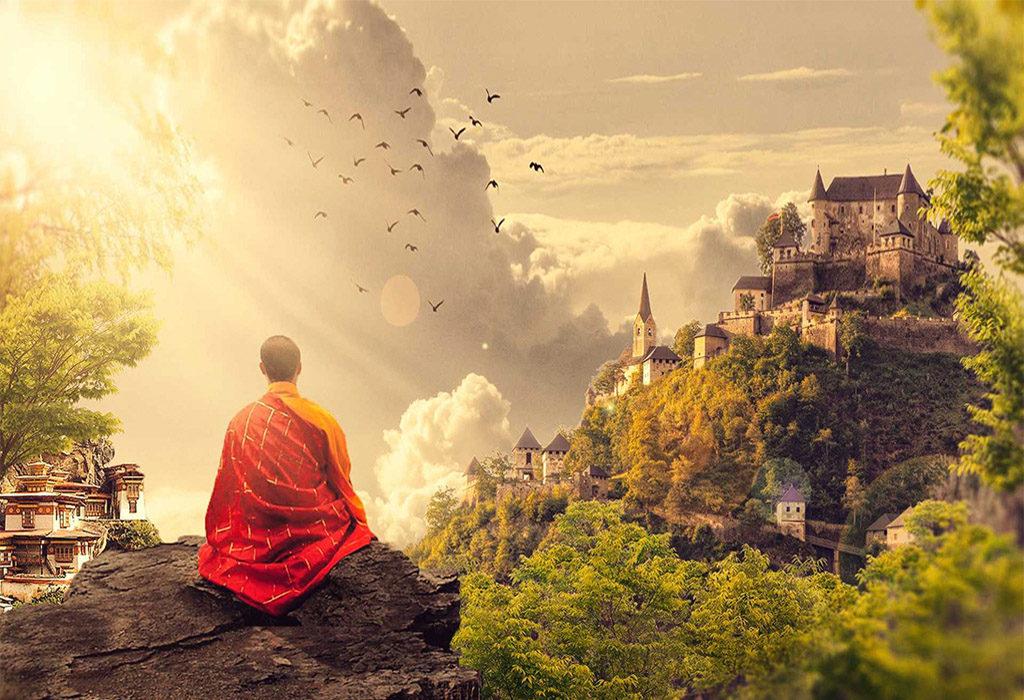 Tibetskiy_monah_Shambala-1024x700 Браслет шамбала: значение и соответствие цвета бусин буддийского амулета, на какой руке носить украшение
