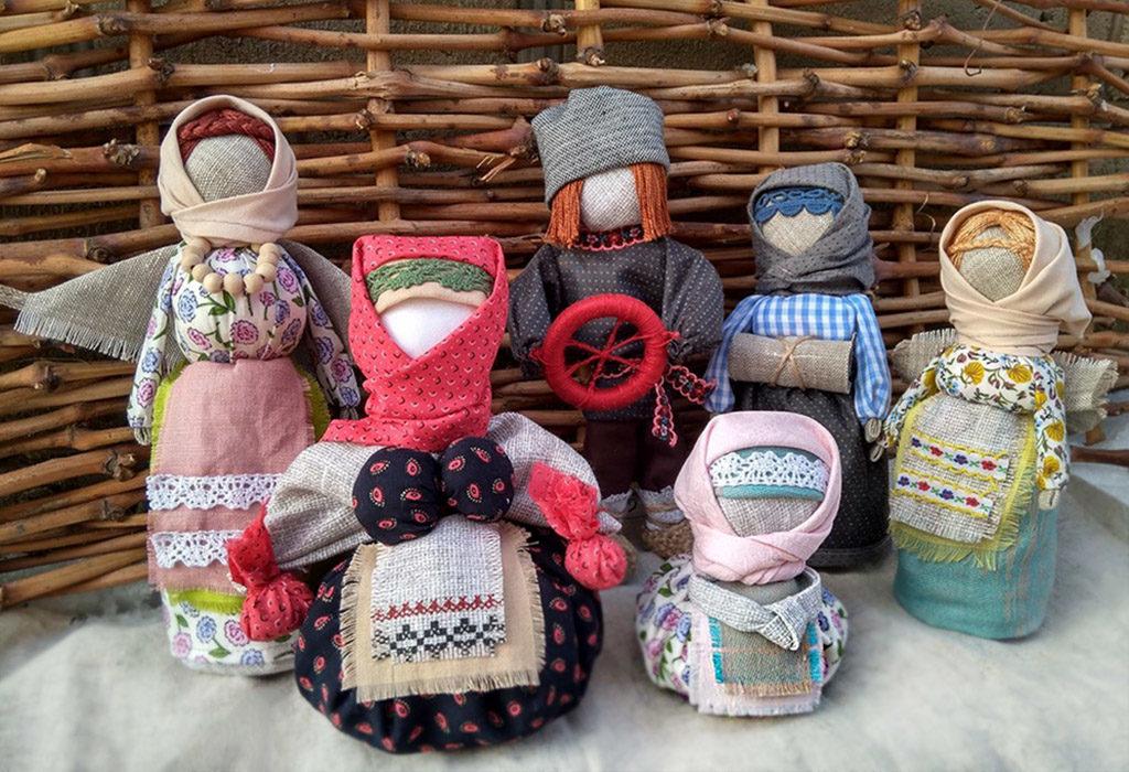 Куклы-обереги из ткани