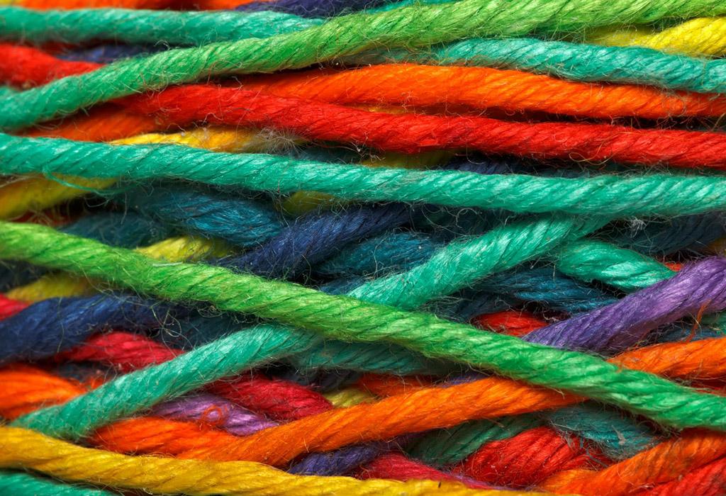 Натуральные цветные нити