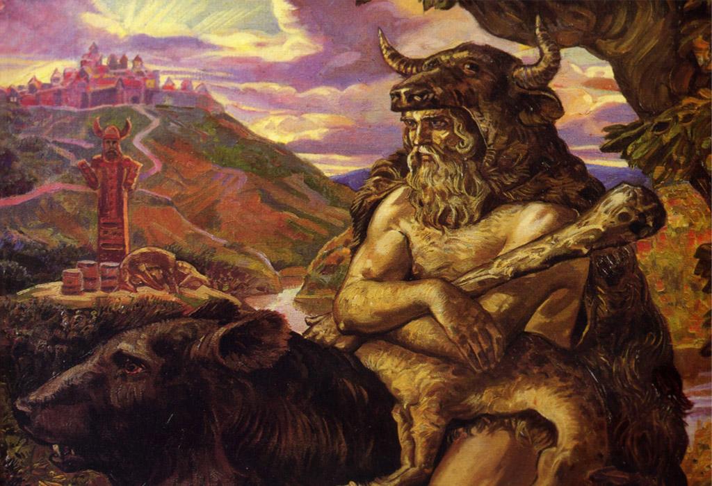 Бог Велес на медведе