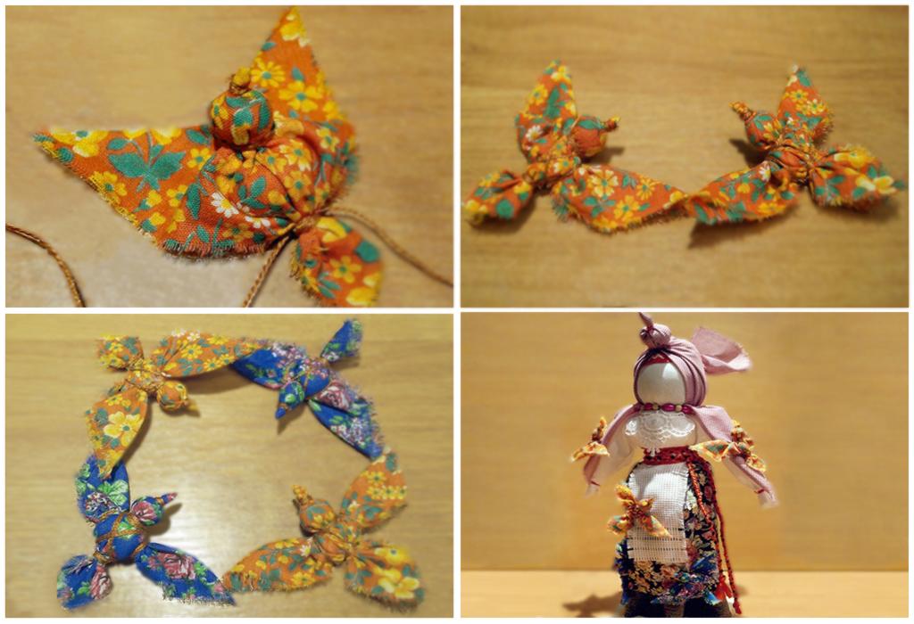 Мастер класс: кукла Птица Радость 6