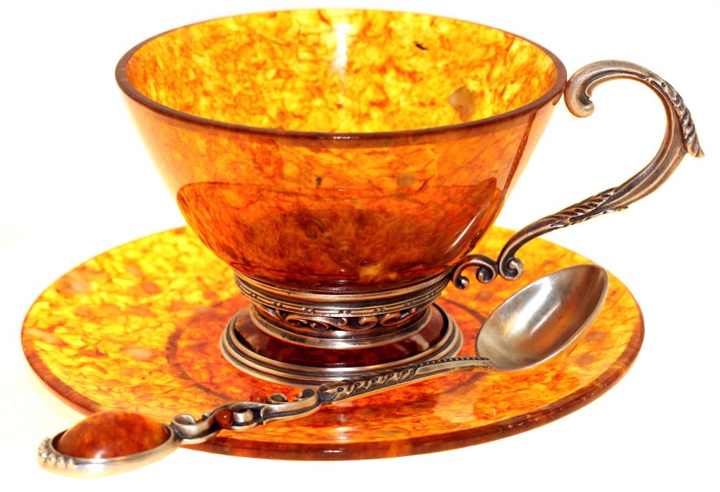 Посуда из янтаря